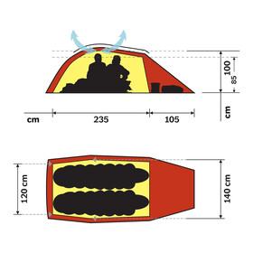 Hilleberg Jannu teltta , punainen